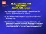 fy 12 construction budgeting guidelines contd