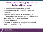 development of drugs to treat tb outline of discussion