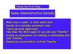 some administrative details