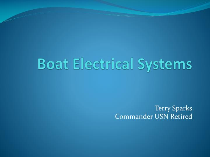 boat electrical systems n.