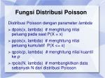 fungsi distribusi poisson