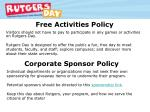 free activities policy