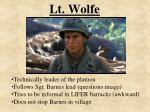 lt wolfe
