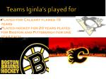 teams iginla s played for