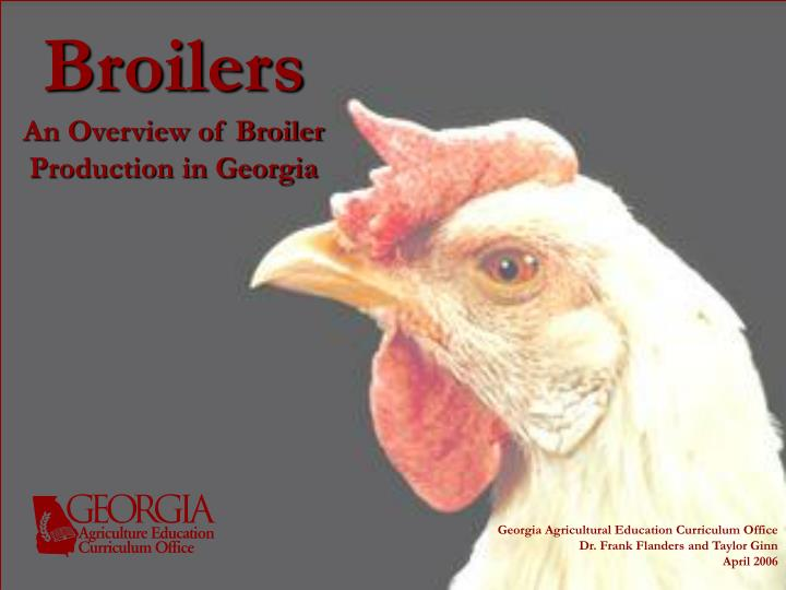 broilers an overview of broiler production in georgia n.