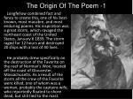 the origin of the poem 1