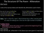 the structure of the poem alliteration1