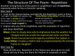the structure of the poem repetition1