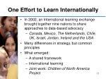 one effort to learn internationally