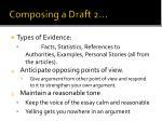 composing a draft 2