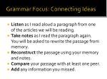grammar focus connecting ideas
