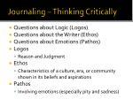 journaling thinking critically