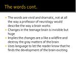 the words cont