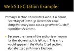 web site citation example