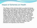 impact of schemes on health