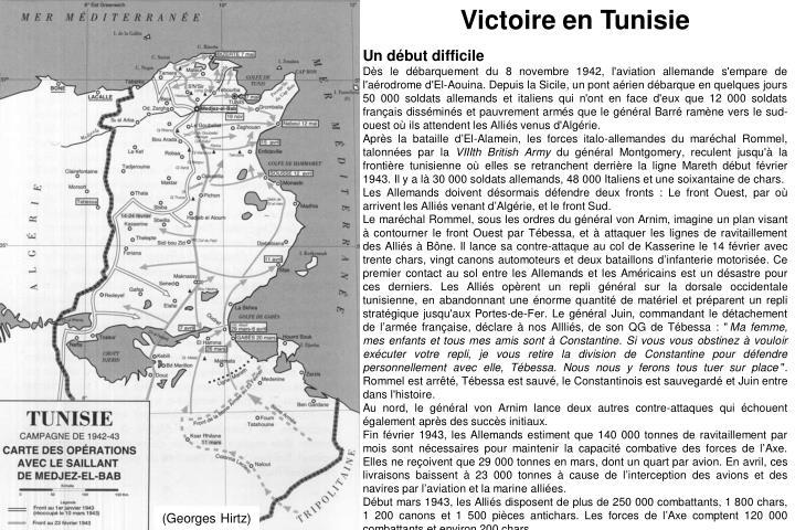 Victoire en Tunisie