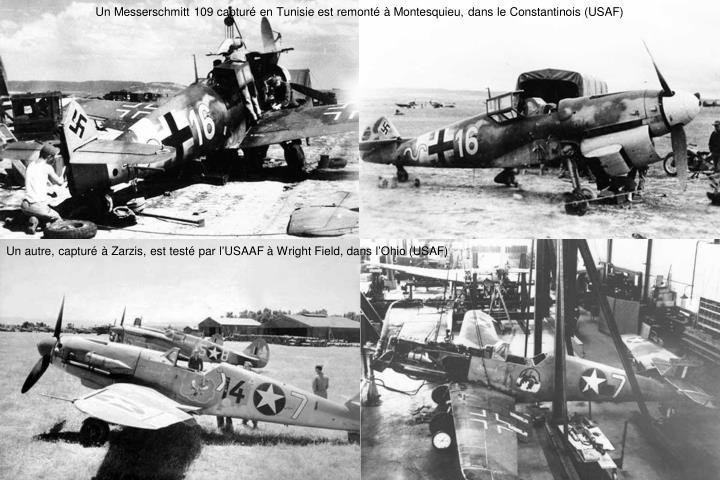 Un Messerschmitt 109 capturé en Tunisie est remonté à Montesquieu, dans le Constantinois (USAF)