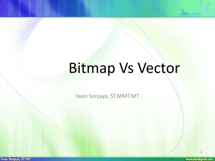 bitmap vs vector n.