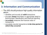 3 information and communication