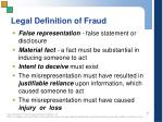 legal definition of fraud