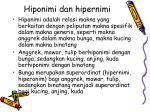 hiponimi dan hipernimi