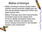 makna etimologis