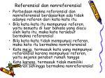 referensial dan nonreferensial