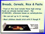 breads cereals rice pasta