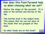 how does this food pyramid help us when choosing what we eat