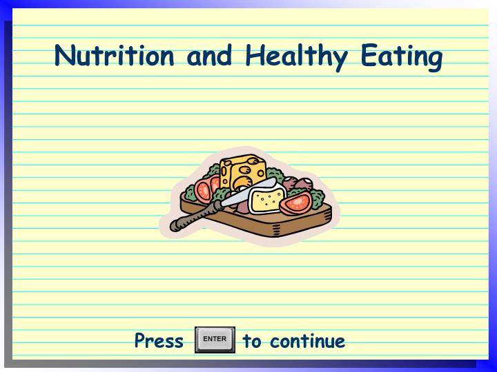 nutrition and healthy eating n.