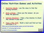 online nutrition games and activities