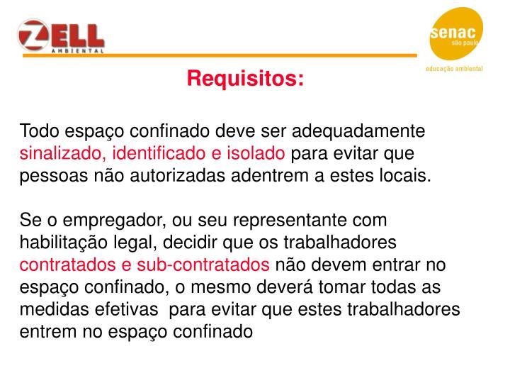 Requisitos: