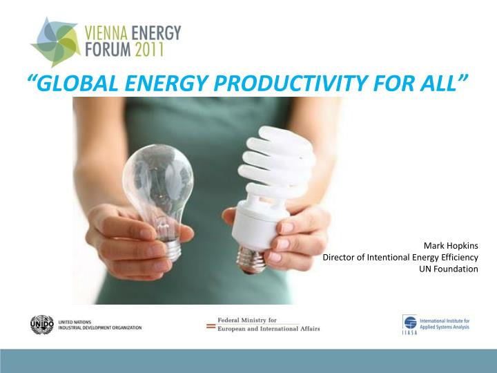 global energy productivity for all n.