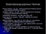 sistematizacija pojmova i formula