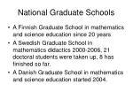 national graduate schools