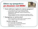 ethos og sjangerkrav p eksamen ved nmbu