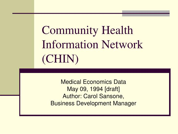 community health information network chin n.