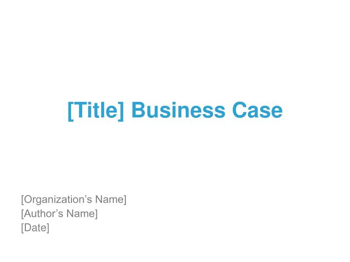 title business case n.
