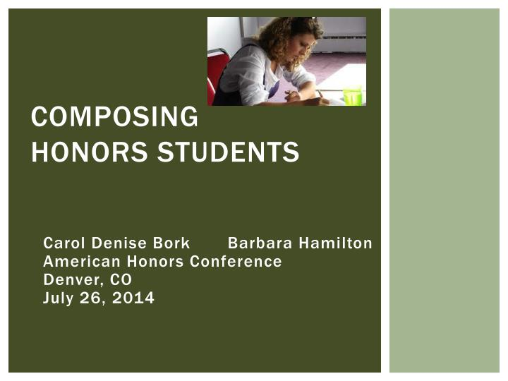 composing honors students n.