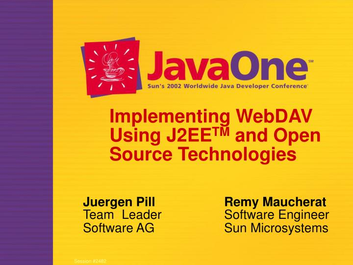 implementing webdav using j2ee tm and open source technologies n.