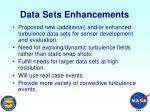 data sets enhancements