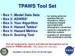 tpaws tool set