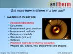 get more from evitherm at a low cost
