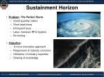 sustainment horizon