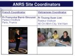 anrs site coordinators