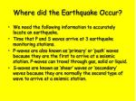 where did the earthquake occur