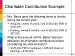 charitable contribution example