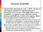 divorce example