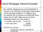 home mortgage interest example