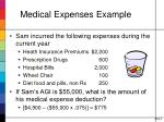 medical expenses example
